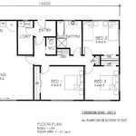 Floor plan of the 3 bedroom home